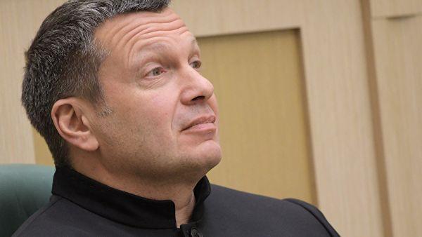Журналист, теле- и радиоведущий Владимир Соловьев на заседании Совета Федерации РФ. 28 марта 2018