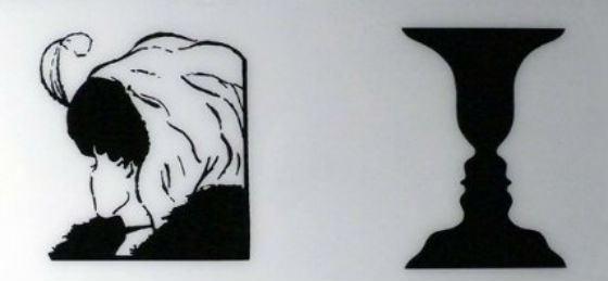Самые извеÑтные оптичеÑкие иллюзии: девушка-Ñтаруха и профили-ваза