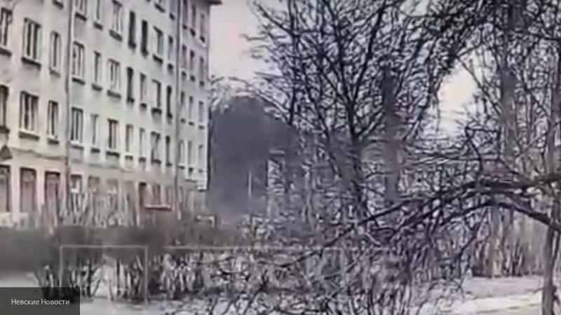Появилось видео взрыва в Калининском районе Санкт-Петербурга