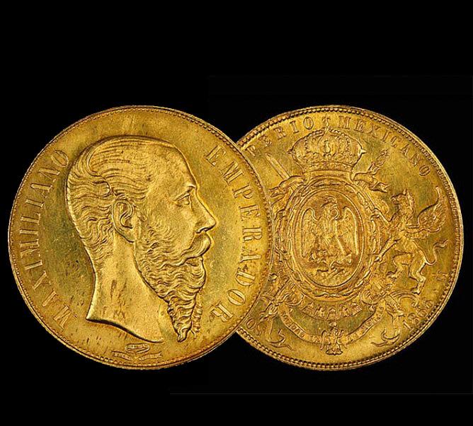 Золотая монета Максимилиана