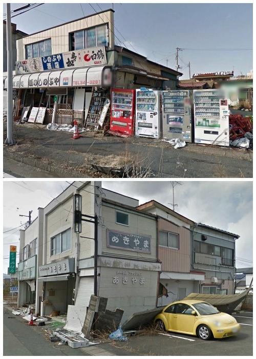 Жители города Намиэ бросили все, убегая от радиационной опасности (Япония).