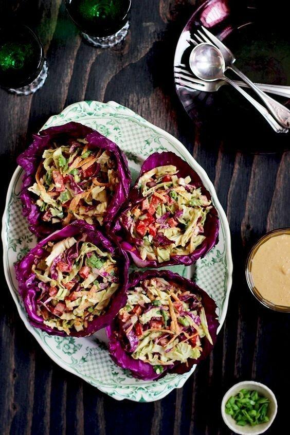 Конечно салаты. Вот салат из капусты в капусте - красиво, полезно и вкусно длиннопост, еда, капуста, картинки, на заметку, приготовь, рецепт