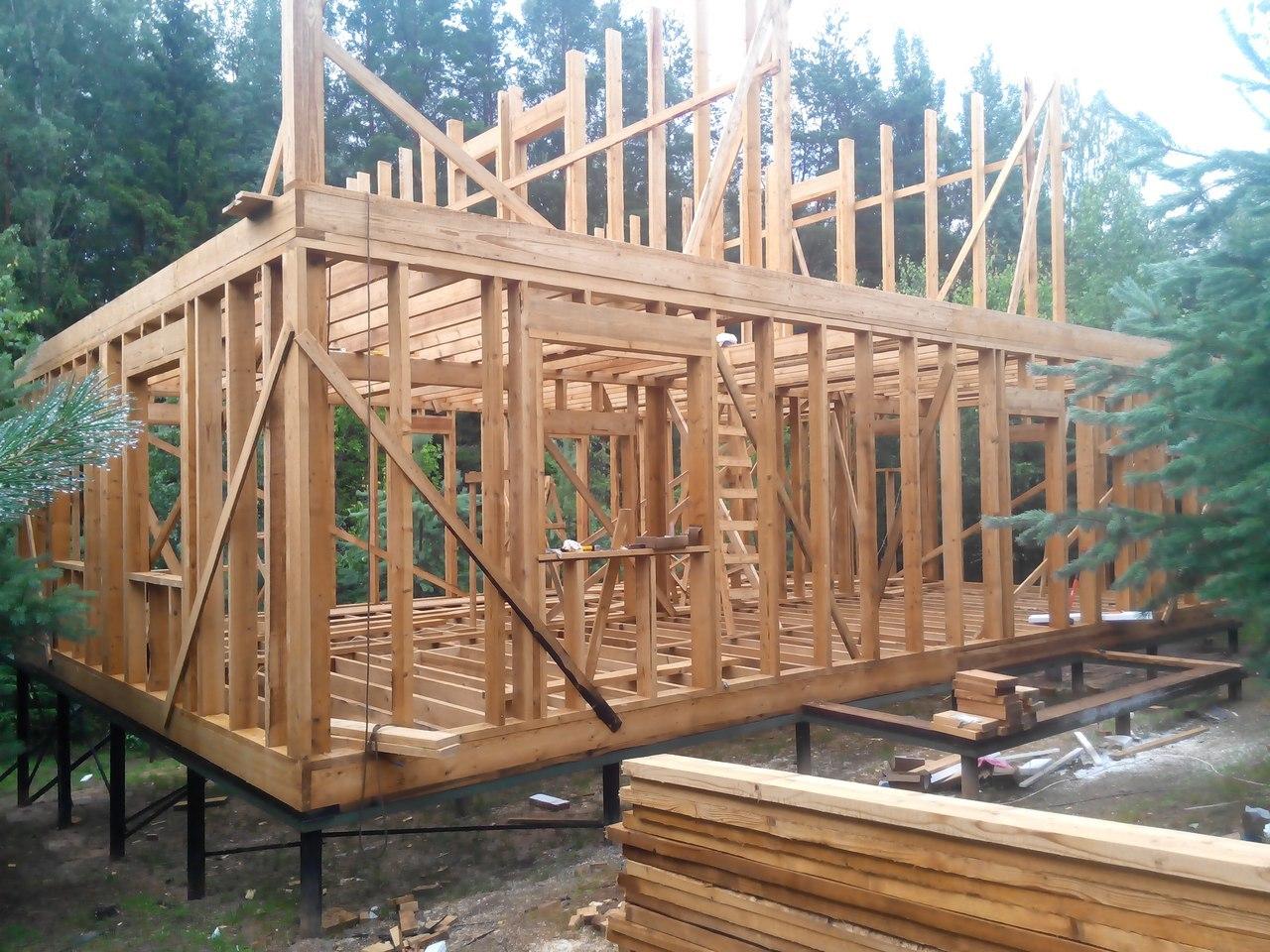 строительство дома поэтапно картинки