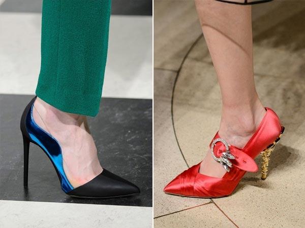 Модные туфли из шелка для осени 2017