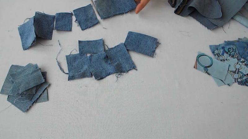 Хитрая идея: разрезать джинсы на мелкие кусочки и сшить красоту интерьер,одежда,переделки,рукоделие,своими руками,сделай сам