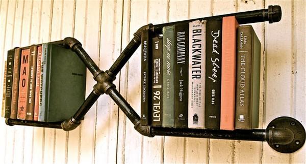 Книжные полки в индастриал стиле идеи для дома,индустриальный стиль,полки