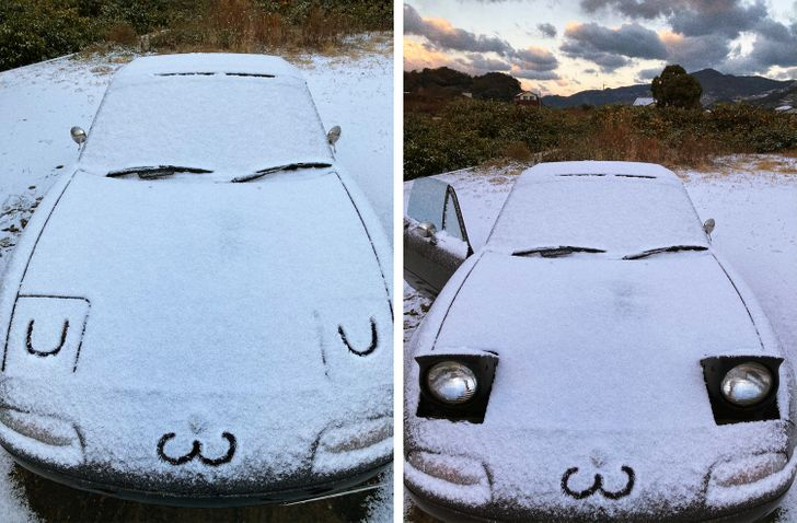 Сюрпризы японской зимы зима,снег,Япония