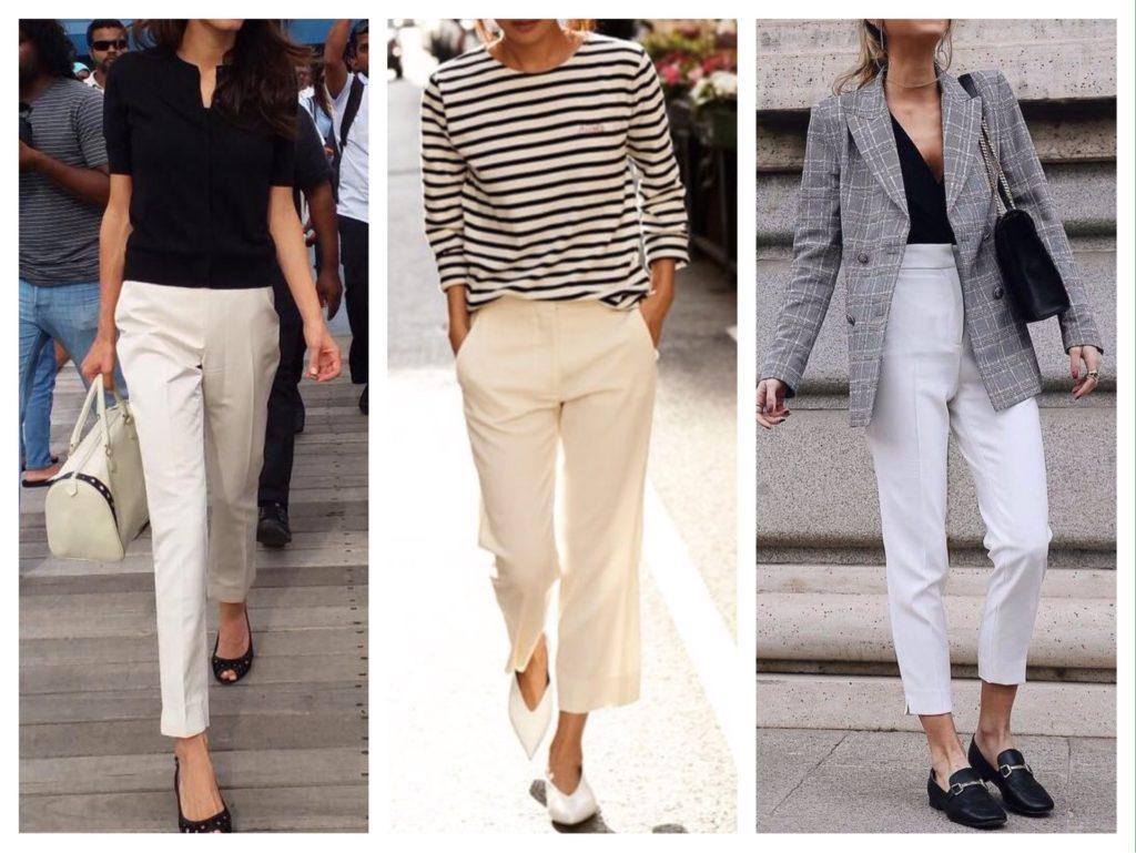 белые модели брюк