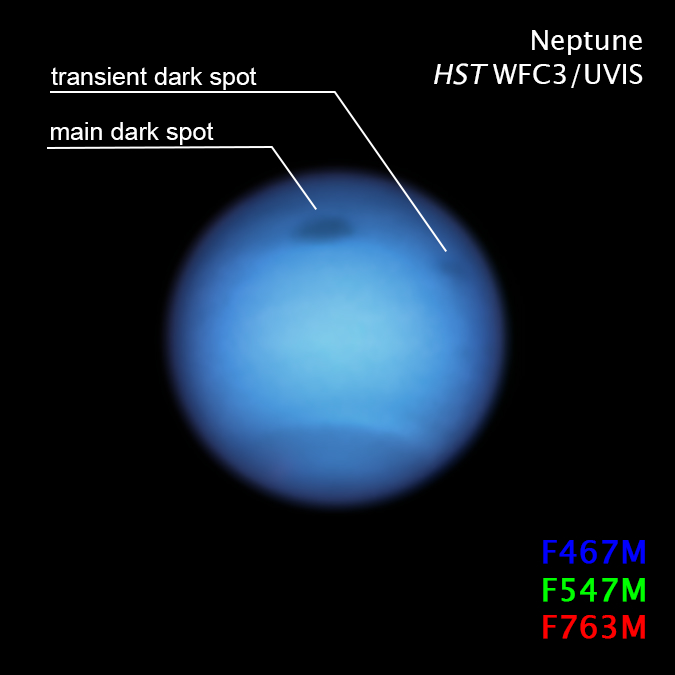 Астрономы заметили необычное поведение темного пятна на Нептуне: оно резко сменило направление Культура