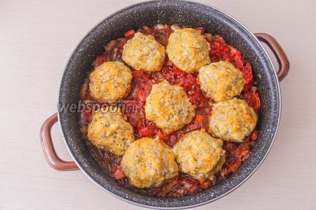 Тефтели с перловкой и тыквой в томатном соусе кулинария,мясные блюда,овощные блюда