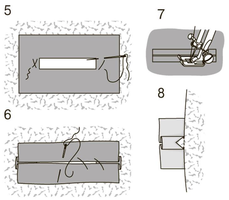Школа шитья: прорезные петли в рамку