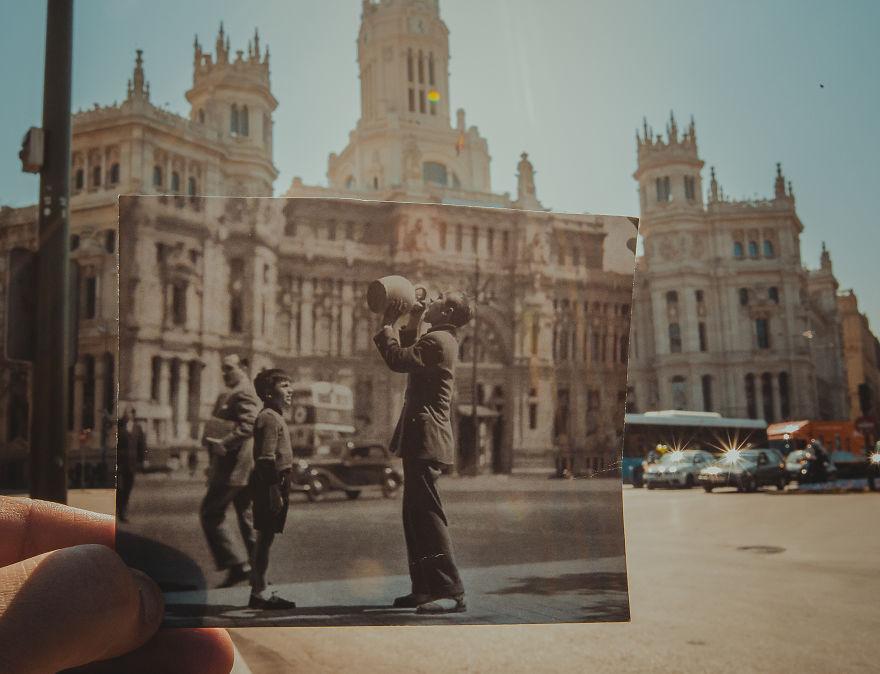 Окно в прошлое: житель Баку комбинирует старые фото с современными видами мир,путешествия,тревел фотография,турист