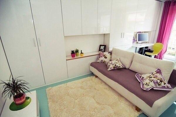Вот такая идея малогабаритной однокомнатной квартиры