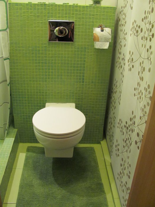Дизайн проект маленького туалета фото