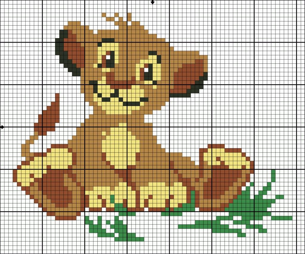 Вышивка схема львенок