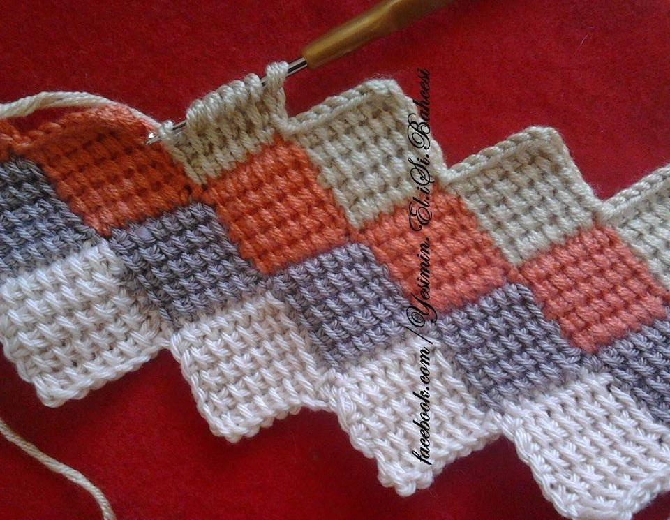 Тунисское вязание для начинающих (видео и фото МК) 5
