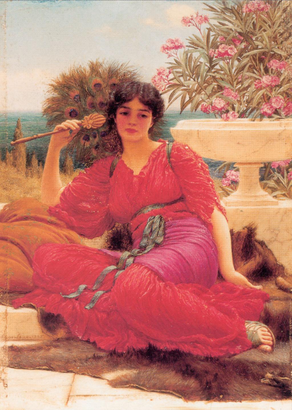 1905_Флабеллифера (рабыня с опахалом) (частная коллекция) (эскиз)