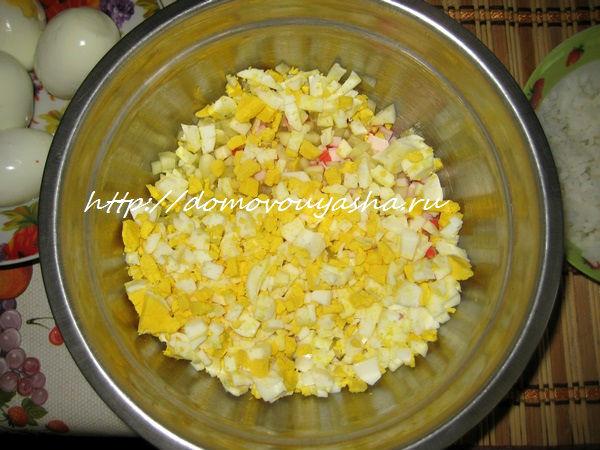 салат крабовый с яйцом пошаговый рецепт с фото