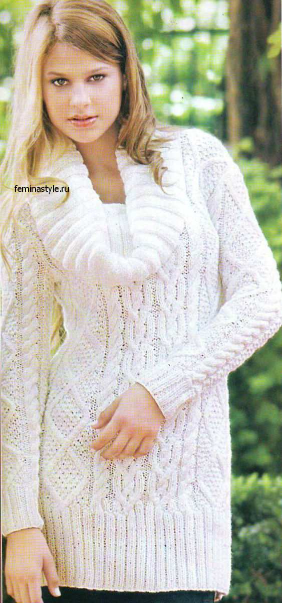 "Пуловер ""Соло белого"""