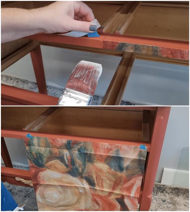 Из старого комода в эффектный предмет интерьера: реставрация с помощью техники декупаж мастер-класс,мебель