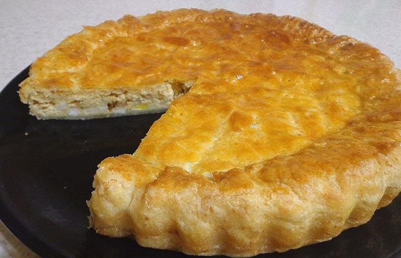 закусочный сырный пирог