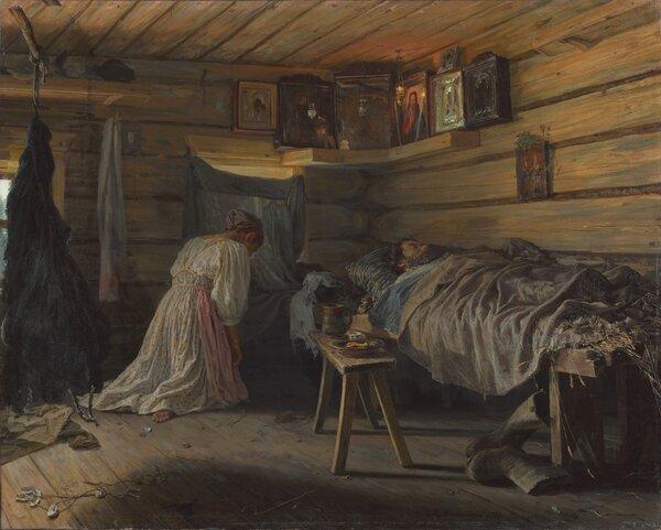 Больной муж. 1881. Третьяковская галерея