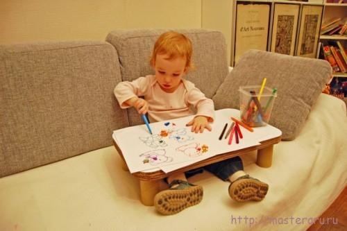 Как сделать детский столик на диван