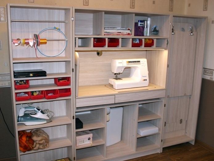 Шкаф для швеи: раздвижной швейный мир интерьер,мебель,сделай сам,шкаф для рукодельницы