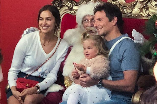 Ирина Шейк и Брэдли Купер познакомили дочь Лею с Санта-Клаусом