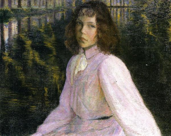 """На берегу реки"",1895, 64.8×81.3 см"
