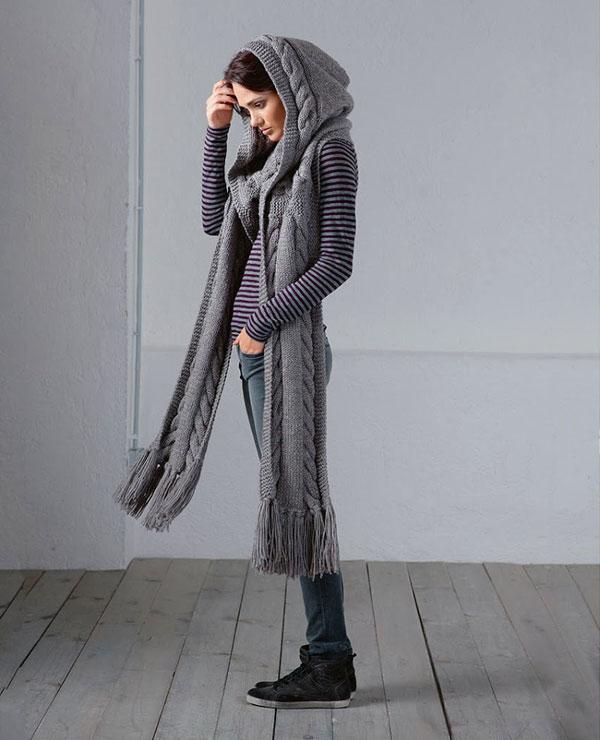 Шикарный шарф-капюшон