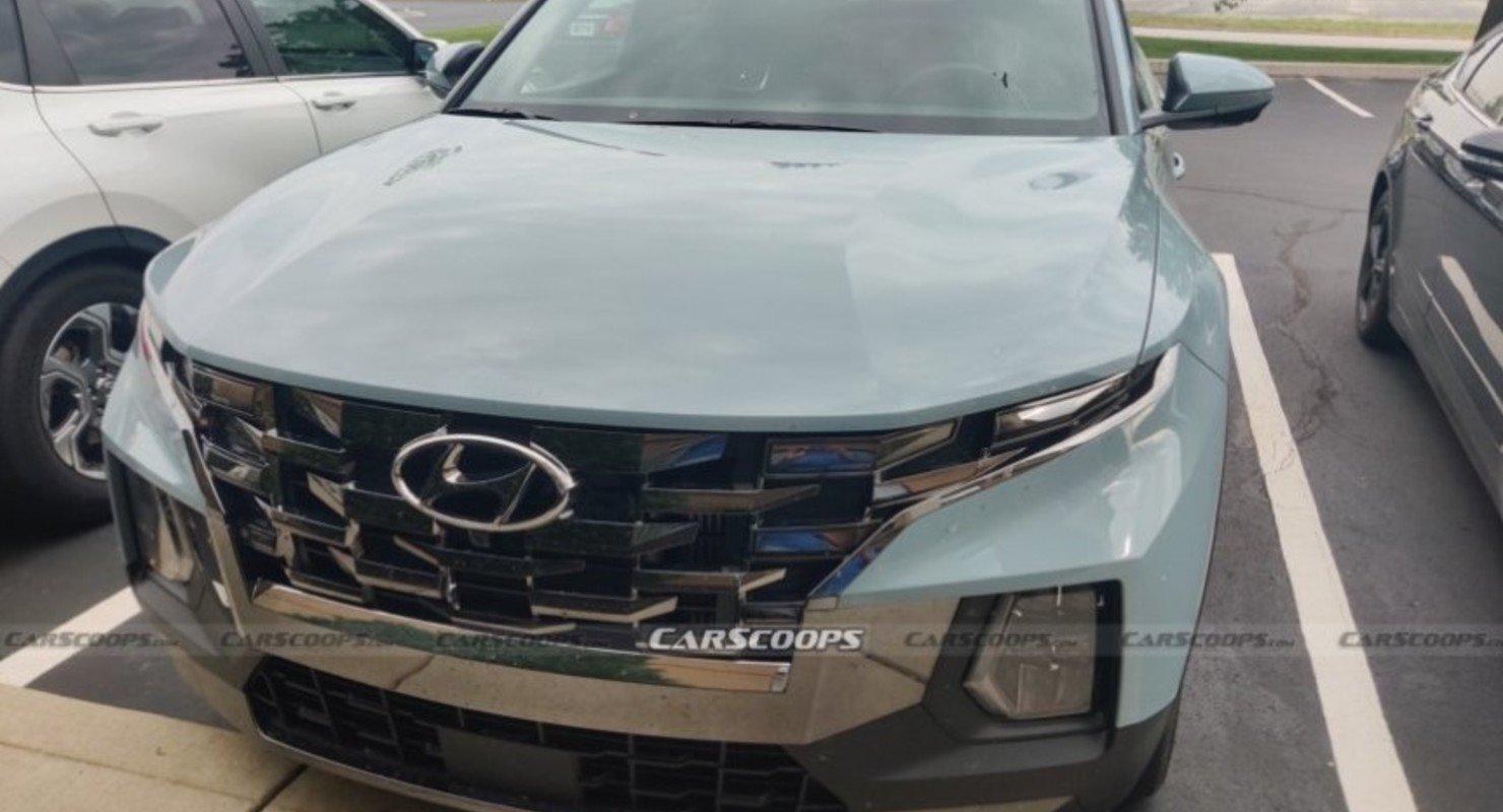 Новый пикап Hyundai Santa Cruz 2022 года замечен в Индиане Автоновинки