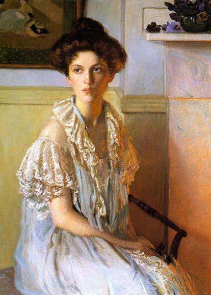 """""""Женщина с вазой фиалок"""", 1910, 101.6×76.2 см"""