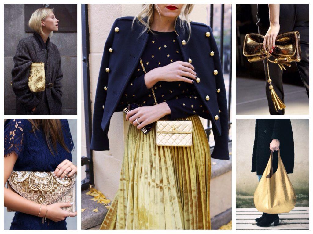 С чем сочетается золото в одежде фото