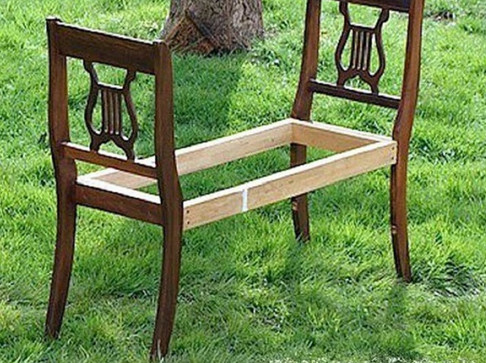 Старые стулья на свалку?! Забудь об этой идеи! Делаем банкетку, оригинальную лавку и многое другое!