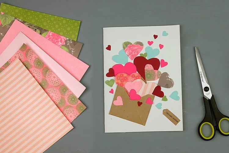 Месяц, как сделать открытку виде сердечка для бабушки