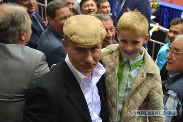 В Челябинске 7-летний мальчик пробрался к Путину. Настырный пацан!