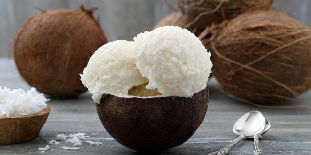 как сделать кокосовое мороженое