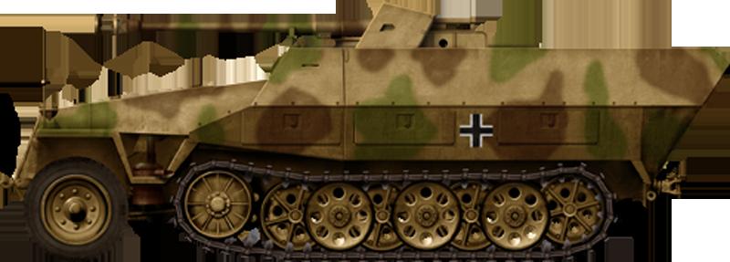 Самоходная артиллерийская установка Sd.Kfz.251/22 (Германия)