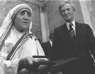 Речь Матери Терезы на вручении Нобелевской Премии