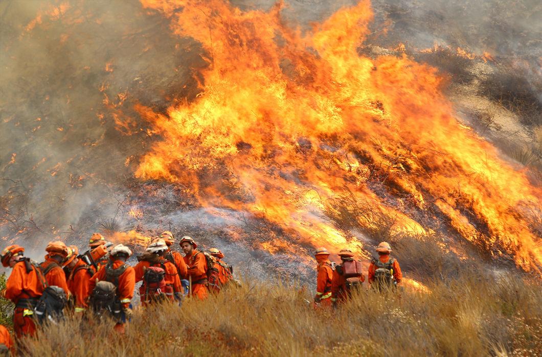 Разгул огненной стихии в США