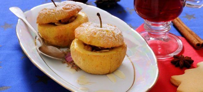Постный десерт из яблок