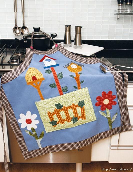 Шъём фартук и украшаем полотенца