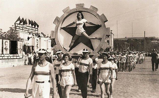 3. Парад спортсменов в России, 1938 год винтаж, интересно, исторические кадры, исторические фото, история, ретро фото, старые фото, фото