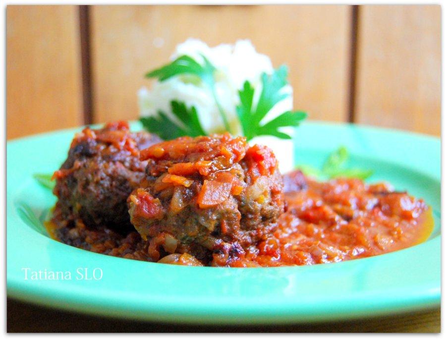 Домашняя словенская кухня. Чуфти в помидорном соусе. Фото-рецепт.