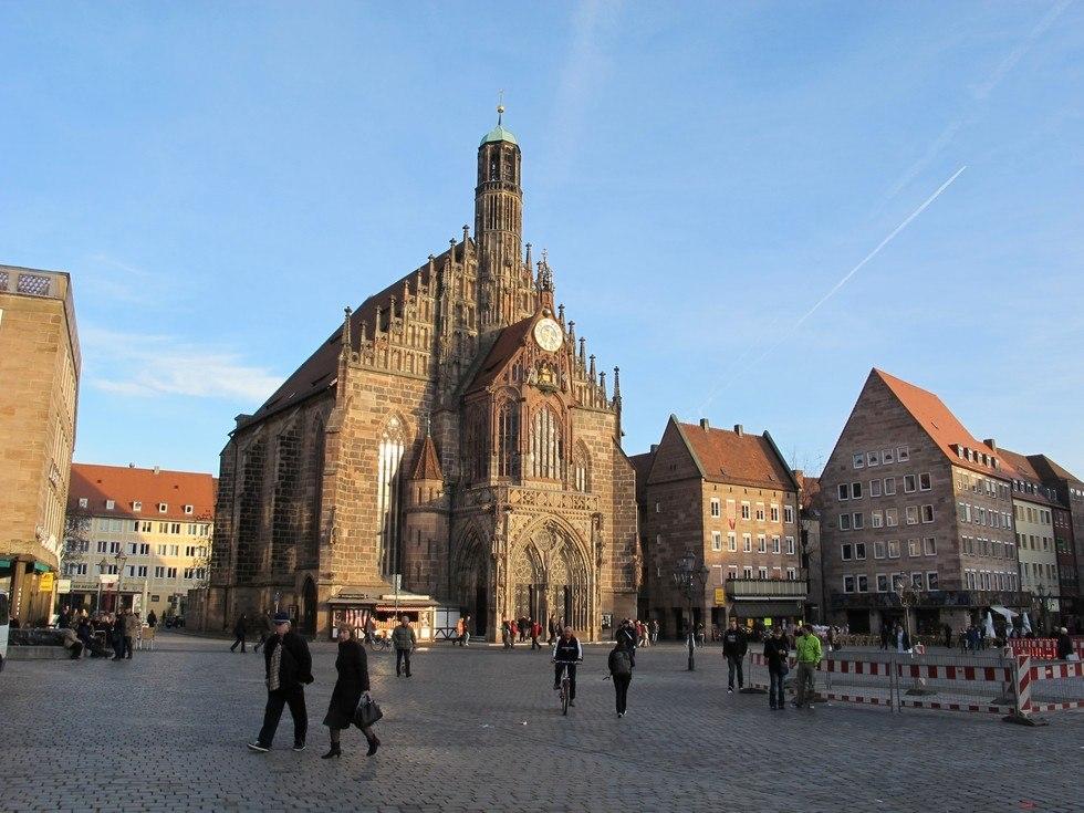 Церковь Фрауэнкирхе в Нюрнберге, Германия