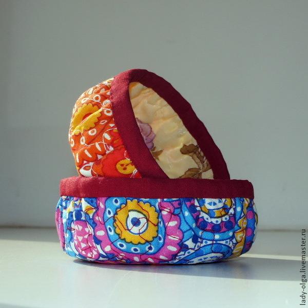 Шьем круглые корзиночки — быстро, легко, удобно