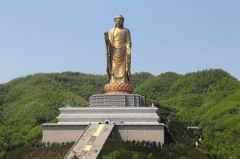 Будда Весеннего Храма — вторая по величине статуя в мире, 128 м, Китай в мире, высота, красота, люди, памятник, подборка, статуя, факты