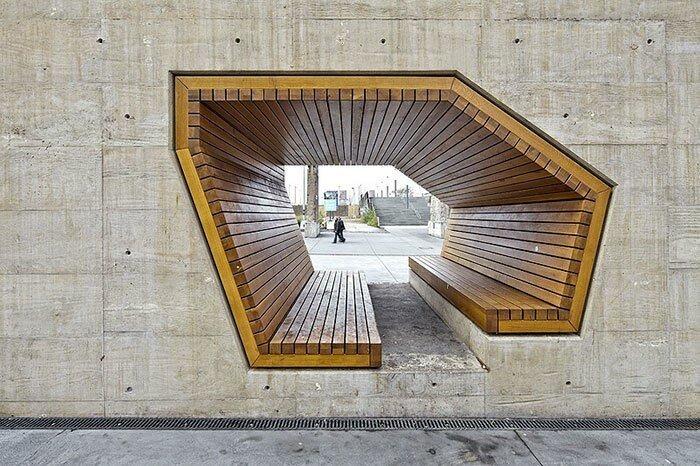 Скамейка от архитекторов Аллесвиргут, Люксембург в мире, в парке, красота, креатив, лавочка, скамейка, удобство, фантазия