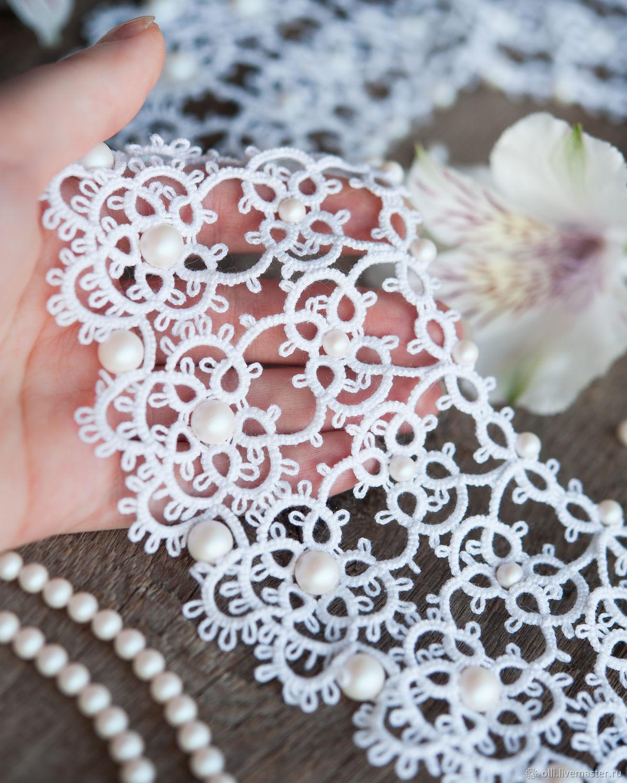 Дeкopaтивныe вopoтнички с жeмчужными буcинкaми: красивые идеи воротничок,женские хобби,мастерство,поделки,рукоделие,своими руками,творчество